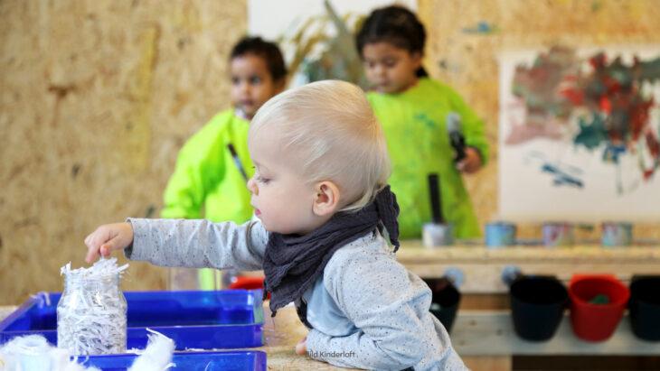 Auch kleine Kinder sind kreativ im Gestaltungsraum