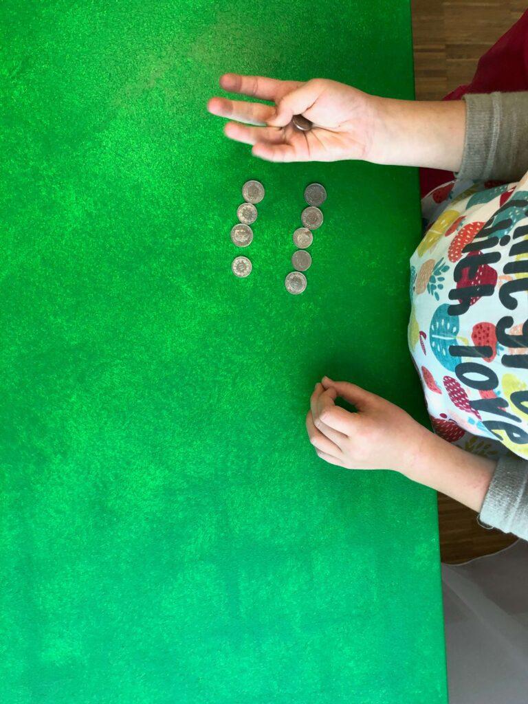 Münzen klauben
