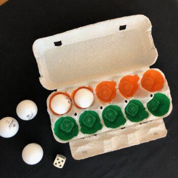 spielend lernen mit dem Eierkarton