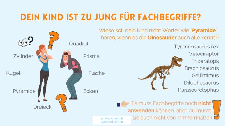 Kinder interessieren sich für Fachbegriffe - denke nur an die Dinosaurier