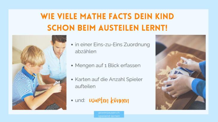 Dein Kind lernt schon beim Austeilen viele Mathe facts!
