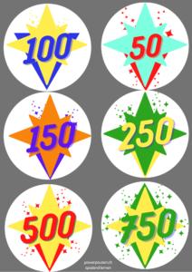Punkte und Symbole für die Ziele