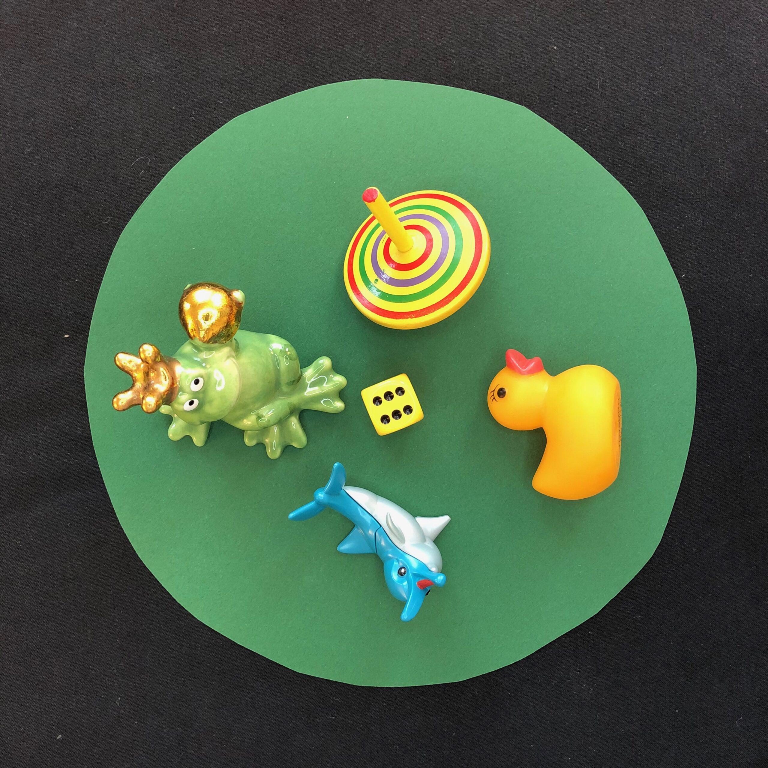 Memory Tray mit Spielsachen