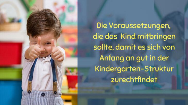 Ein guter Start in den Kindergarten