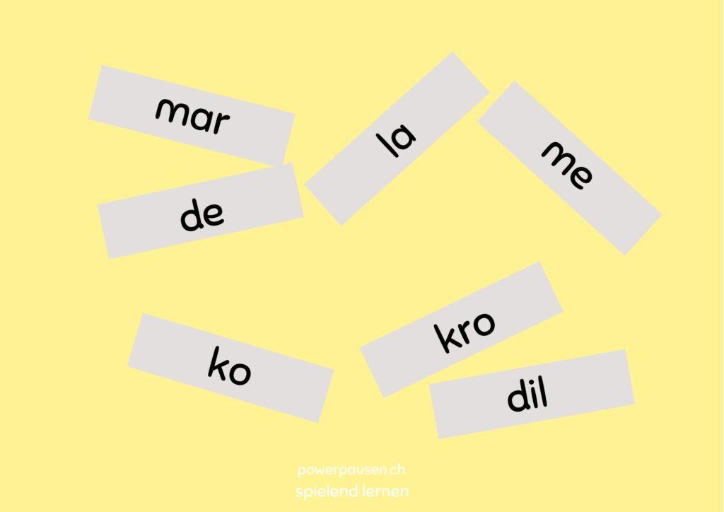 Worte in Silben zerschneiden