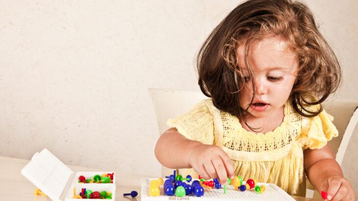 Das Kind lernt bei einer Aufgabe zu verweilen
